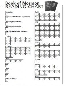 A great Book of Mormon reading chart....my favorite yet!