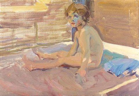 Niña en la playa de Valencia. 1916