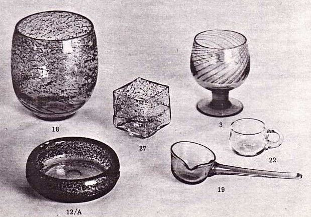 effie-graa.com. Various glass objects, Benny Motzfeldt, PLUS, 1970s.