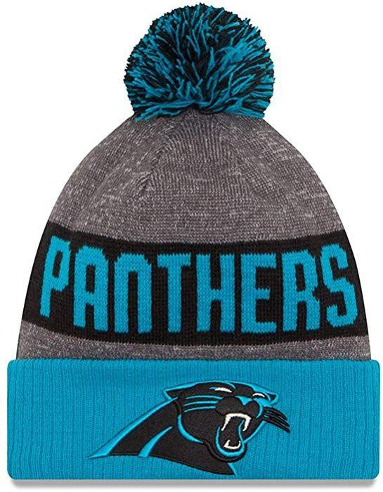 9fd2305459e New Era Men s Carolina Panthers 2016 Sideline Sport Knit Hat Heather Grey  Size One Size at Amazon Men s Clothing store