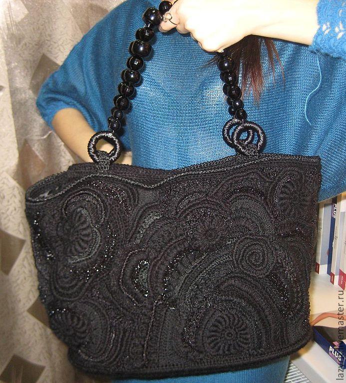 """Купить Сумочка""""Тайна"""" - черный, абстрактный, Аксессуары handmade, сумка ручной работы, авторская ручная работа"""