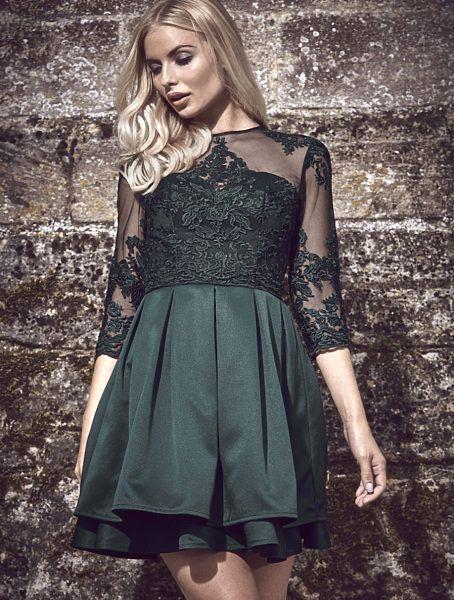 Zelené společenské šaty Chi Chi London Kelly