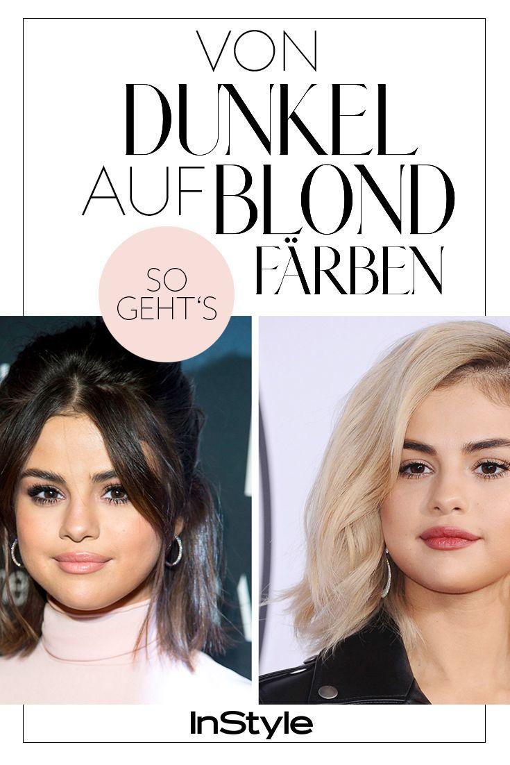 schwarz auf blond färben