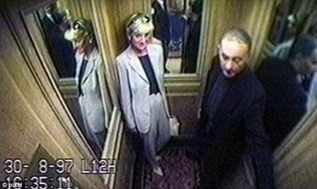 CCTV footage of from The Ritz Paris shows Dodi and Diana just hours before they died
