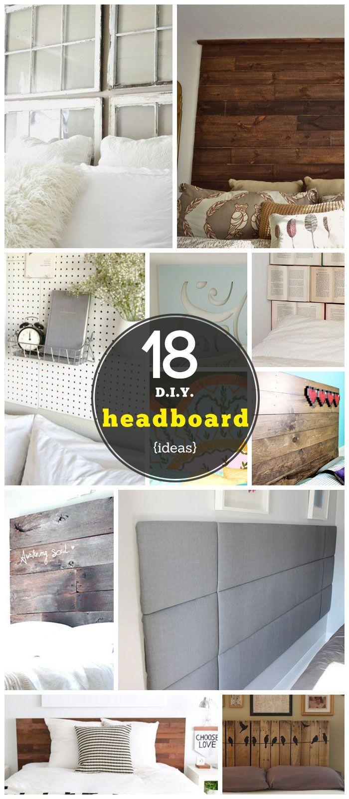 Diy bedroom headboard ideas click for  diy headboard ideas  diy bedroom decor ideas on a