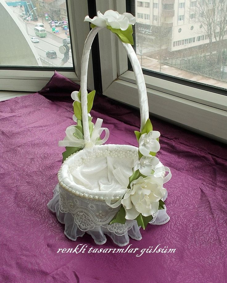 This basket is great for wedding petals