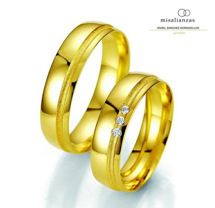 #Alianzas de Oro Amarillo de 18 quilates #boda #anillos