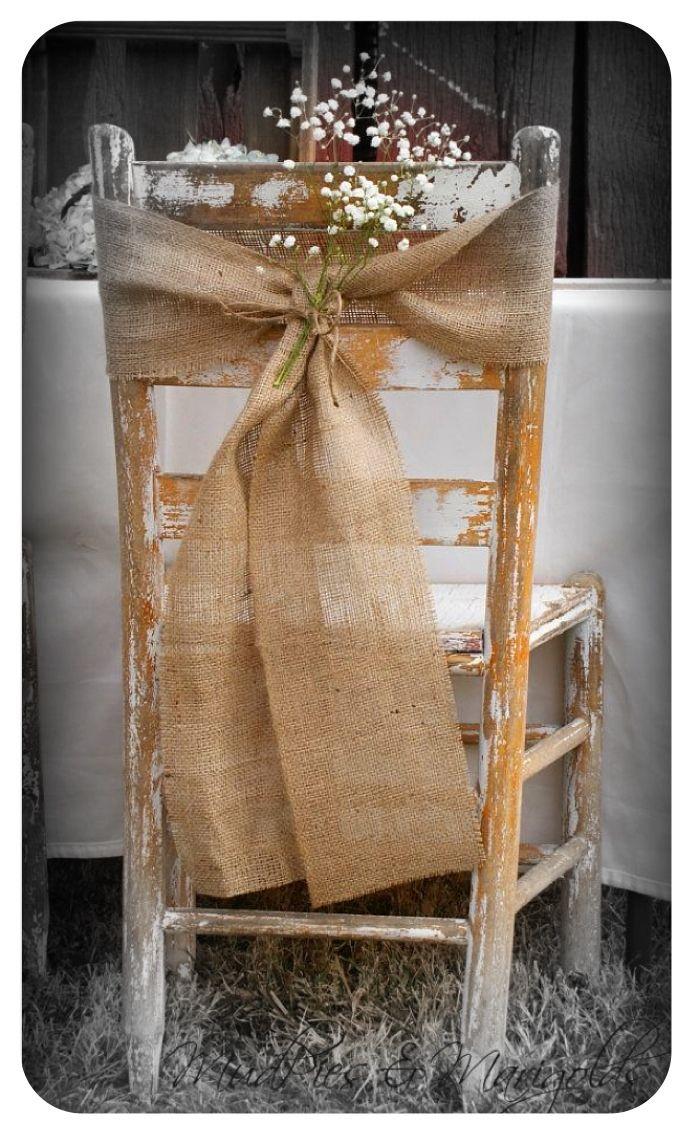 Vintage Party Chair Decor... burlap