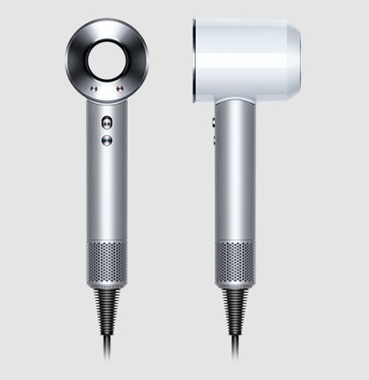Dyson Supersonic™ White/Silver; would be great to not have to spend so much time drying my hair and then taming the craziness!