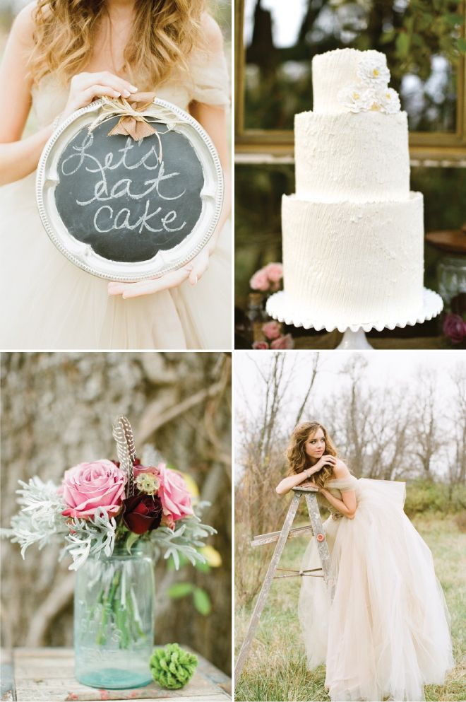 rustic whimsical wedding cakes rustic whimsical fall wedding inspiration tulle dress 19592