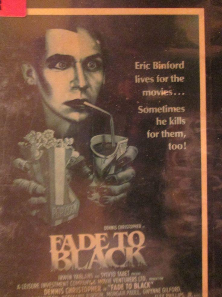 Fade to Black 1981 VHS Media Entertainment horror Cult RARE Slasher
