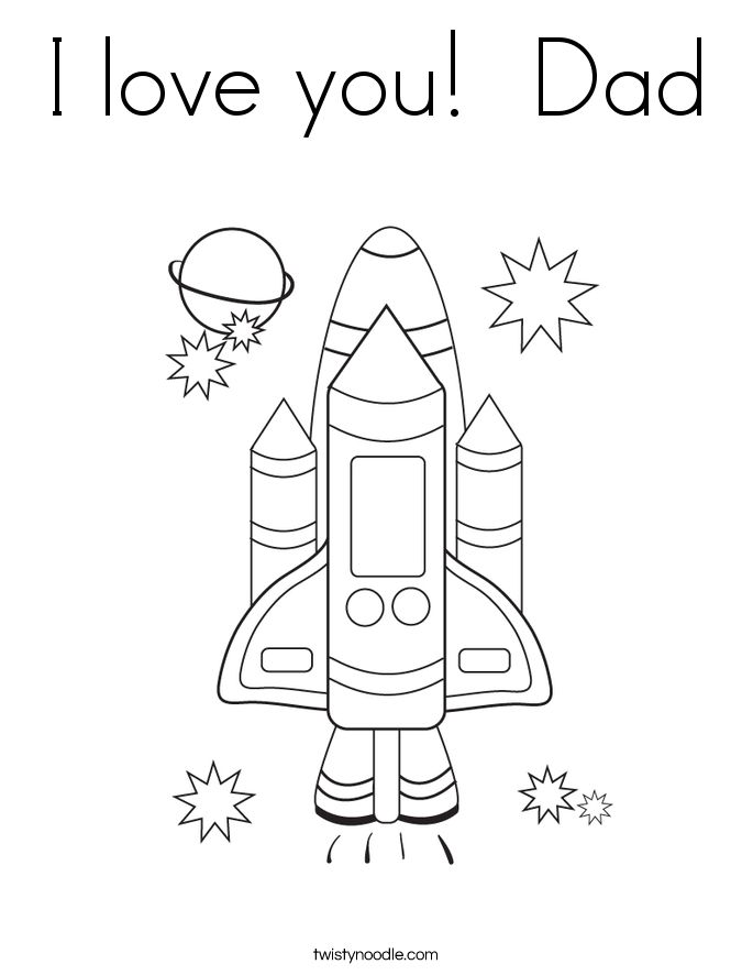 I Love You Dad Coloring Pages - GetColoringPages I Love My ...