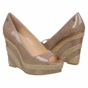 SALE - Calvin Klein Harlo Wedge Heels Womens Taupe - $79.2 ONLY. Was $99.00 - You SAVE $20.00.