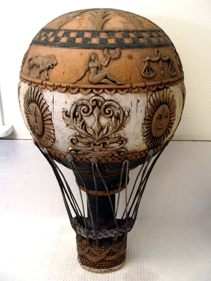 #Antique wood Hot Air Balloon - I LOVE it! http://wp.me/p291tj-2m