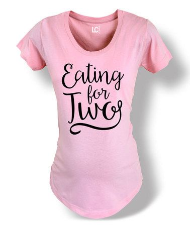 Light Pink 'Eating for Two' Crewneck Maternity Tee