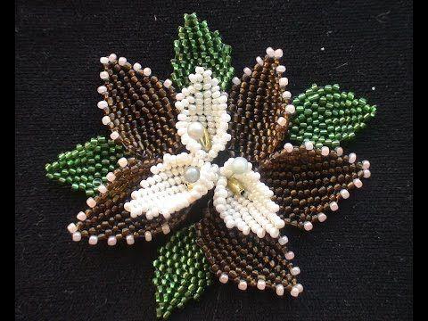 The leaf of beads. Mosaic. English explanation. - YouTube