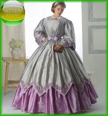 663 besten Ladies Victorian Civil War Costume Patterns Bilder auf ...