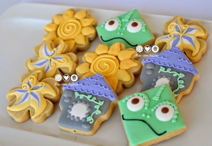 Biscoitos decorados Rapunzel (Enrolados) - Tangled decorated cookies