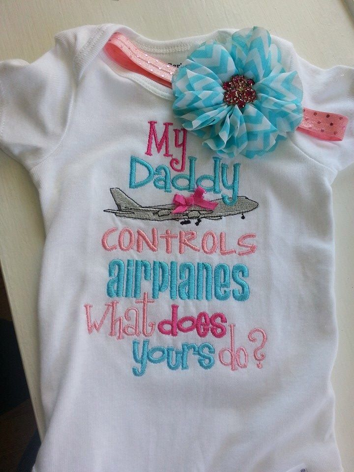 Air traffic controller shirt.  My Daddy Controls Airplanes Embroidered Shirt. My daddy controls planes. by NoOdLeSBoutique on Etsy https://www.etsy.com/listing/183358313/air-traffic-controller-shirt-my-daddy