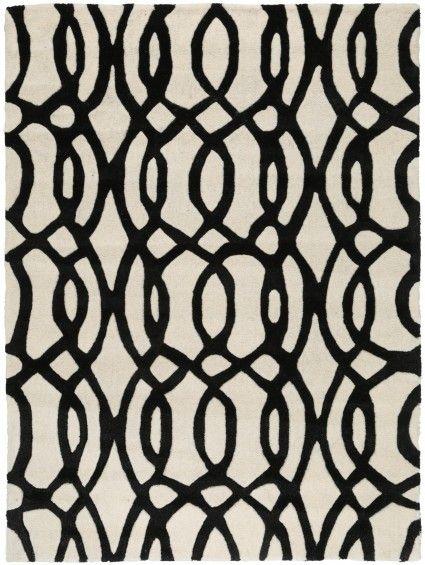 Tapis en laine Metrix Caffouillage Noir 200x300 cm