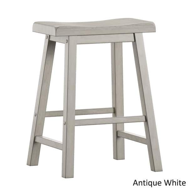 Salvador Ii Saddle Seat 24 Inch Counter Height Backless Stools Set Of 2 By Inspire Q Classic Counter Height Stools Bar Stools Backless Stools