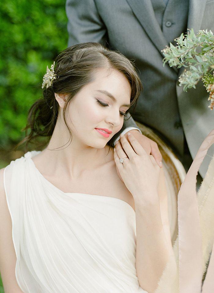 Greek Goddess Chiffon Gown    #weddings #weddingideas #winecountry #fineartweddings #bride #Makeup #weddingdress