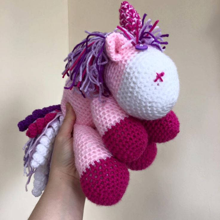 PINK purple UNICORN crochet by NaiNaiMakes on Etsy