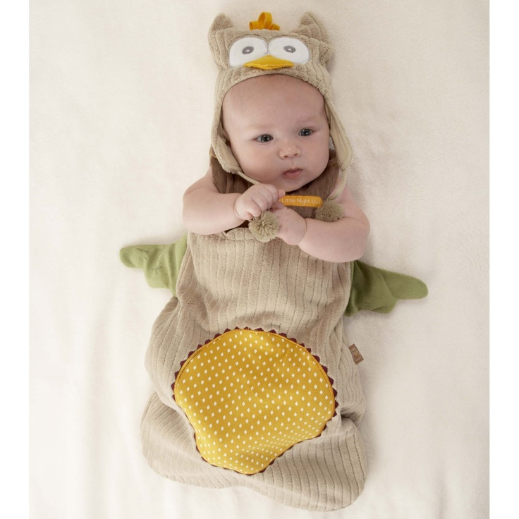 """My Little Night Owl"" Snuggle Sack and Cap: this maybe the cutest thing i have ever seen"