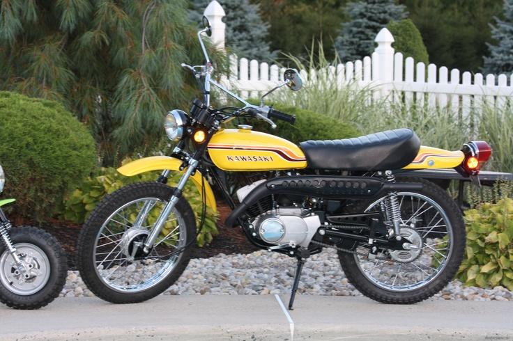 Vintage Kawasaki Enduro Bikes