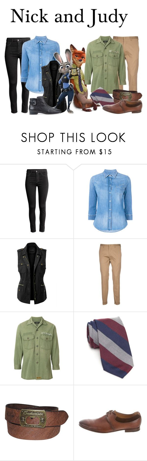 """""""&&✧;  Nick and Judy // dug"""" by disney-darlings ❤ liked on Polyvore featuring Jacob Cohёn, LE3NO, Paul Smith, Hollywood Trading Company, Crown & Ivy, Gucci and Geox"""