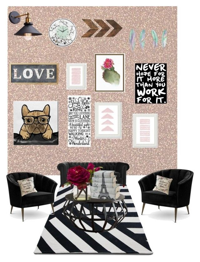 """Sala de adolescente"" by vick1212 on Polyvore featuring interior, interiors, interior design, home, home decor, interior decorating, Pottery Barn, Arca, Inspire Q and Oliver Gal Artist Co."