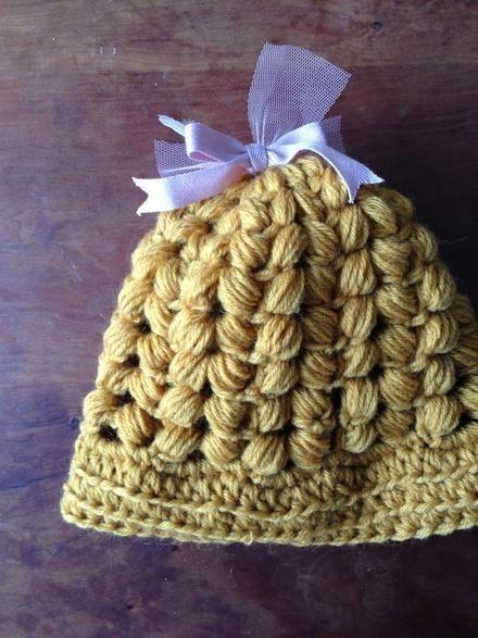 crochet Ribbon帽子