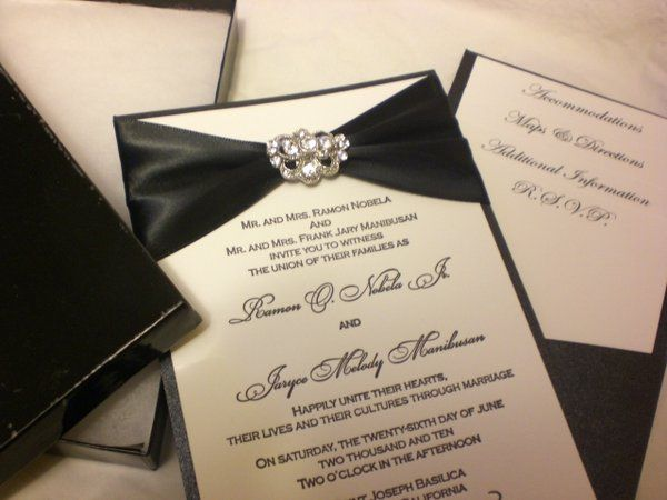 Bling Wedding Invitations White Black Invitation Crystal Stationary Weddings And Pinterest