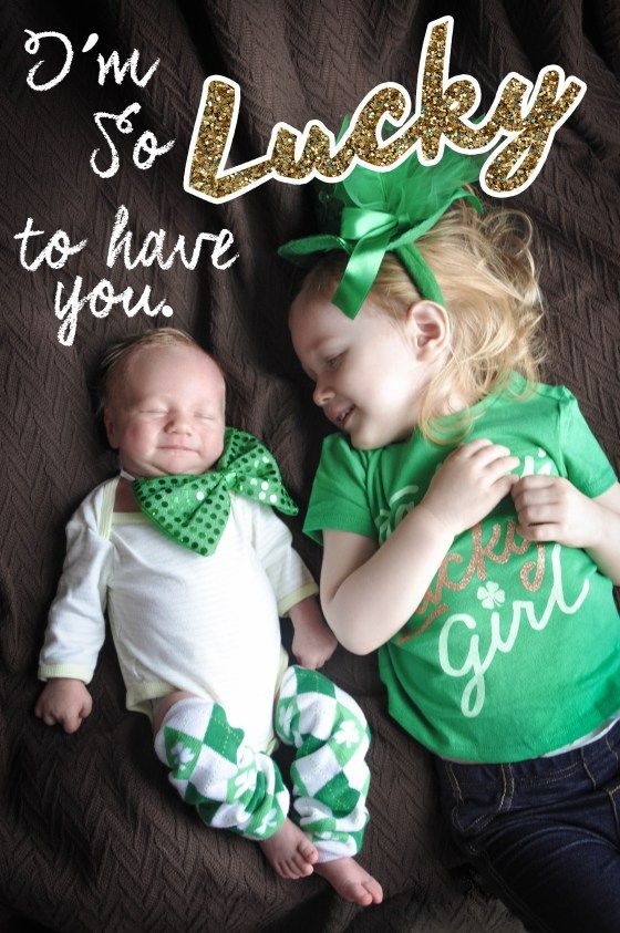 Happy st paddys day kid photography posesmonthly baby