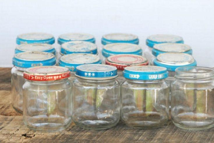 20 belles façons de récupérer les pots de nourriture pour bébé!