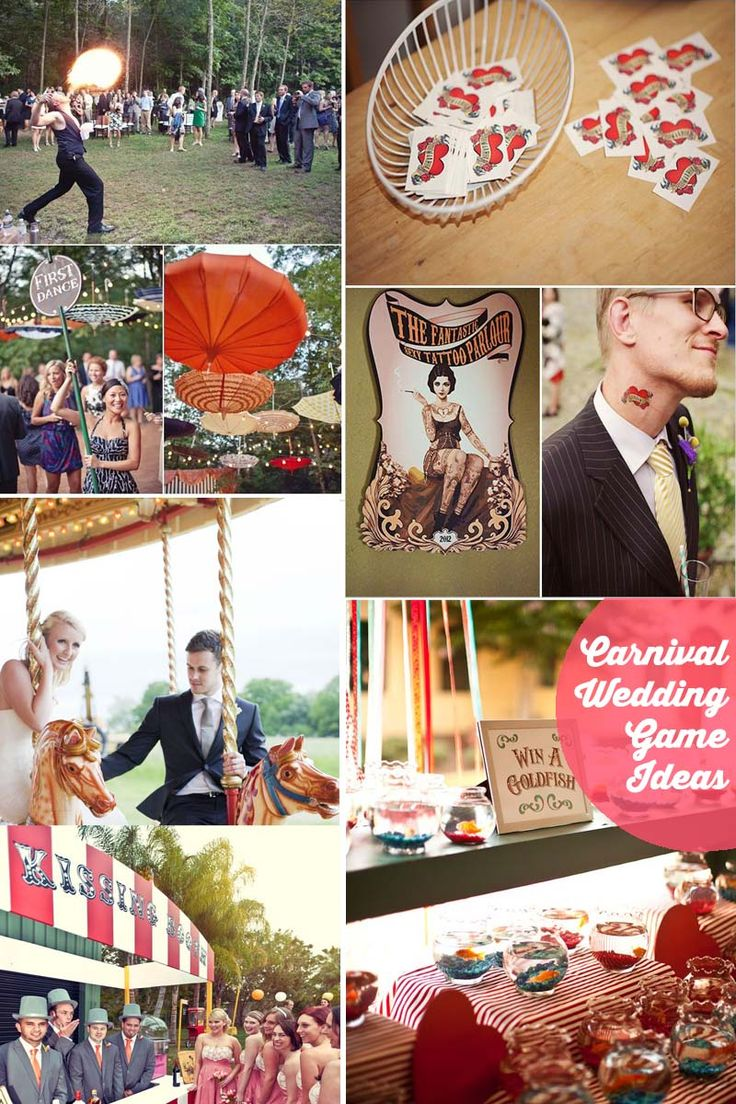Our Guide to Planning a Carnival Wedding >> http://www.yesbabydaily.com/blog/a-carnival-wedding - Carnival Games