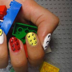 LEGO Nail Art: An Adorably Nostalgic Manicure