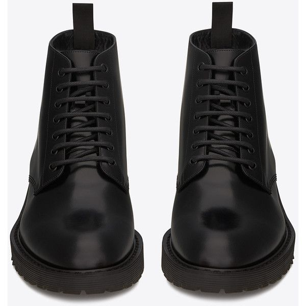 Saint Laurent Army 20 Combat Boot ($840) ❤ liked on Polyvore featuring men's fashion, men's shoes, men's boots, mens slip on shoes, mens slip on boots, yves saint laurent mens boots, mens lace up shoes and yves saint laurent mens shoes