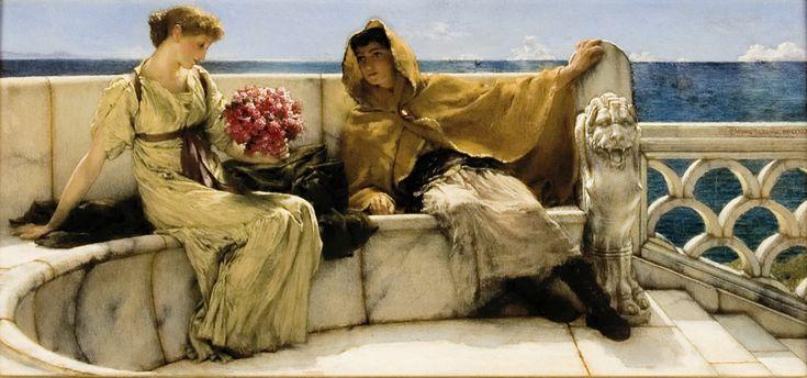 Verleidelijke Romeinse vrouwen gesluierd in fijne gewaden tegen dromerige vergezichten, mijmerende geliefden op bijna doorschijnend marmeren bankjes en dames die hun tijd doorbrengen met pootjebaden, vissen voeren en luieren. Maar ook een farao met zijn stervende zoon in zijn armen en een nietsvermoedend feestend gezelschap dat elk moment verstikt gaat worden onder een lawine van rozenblaadjes. Alma-Tadema neemt ons mee naar scenes uit de klassieke oudheid en brengt deze tijd, als eerste…
