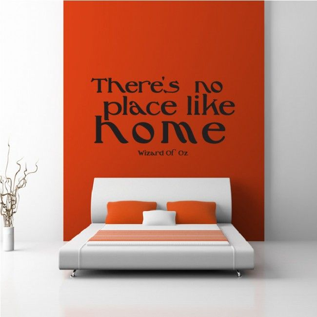 Thereu0027s No Place Like Home Wall Sticker Wizard Of Oz Wall Art Part 55
