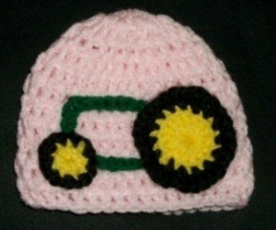 John Deere Girls Baby Beanie Hat by AnnysShop on Etsy