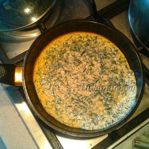 Творожный омлет с зеленью | Диета Дюкана
