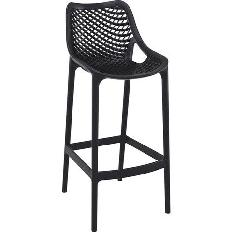 INJECTION MOULD OUTDOOR BAR STOOL - BLACK