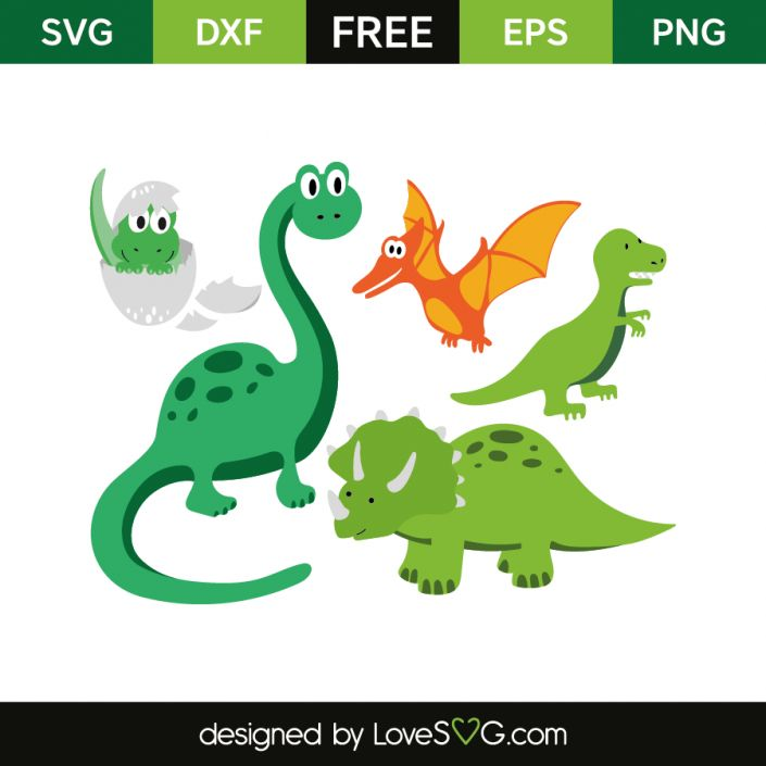 *** FREE SVG CUT FILE for Cricut, Silhouette and more *** Dinosaurs
