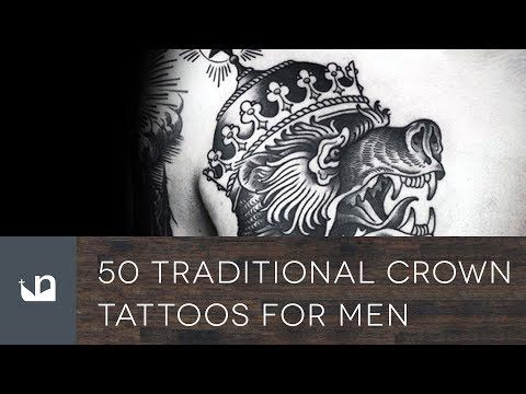 50 Traditional Crown Tattoos For Men.