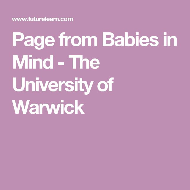 Page from Babies in Mind - The University of Warwick