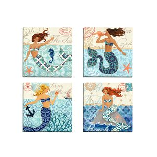 Oliver Gal 'Little Mermaid Original' Canvas Art | Overstock.com Shopping - The Best Deals on Canvas