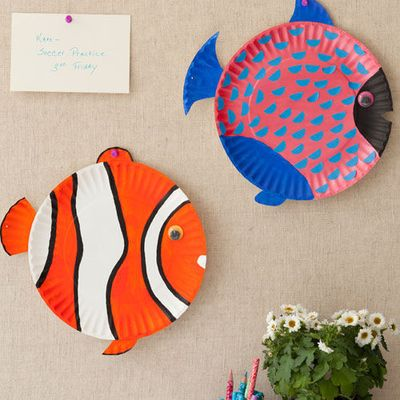 Have fun painting a sea of these cute Fish Plate Crafts