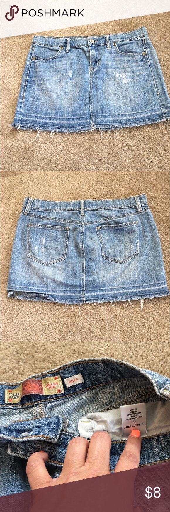 Old Navy Distressed Jean Skirt Great Skirt Old Navy Skirts Mini