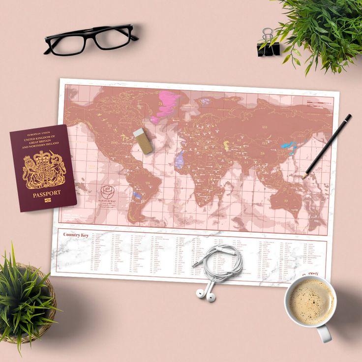 Scratch Map Rose Gold Travel 12 best